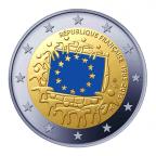 2 euro commémorative France 2015 BU - Drapeau européen Avers