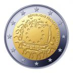 2 euro commémorative France 2015 - Drapeau européen Avers