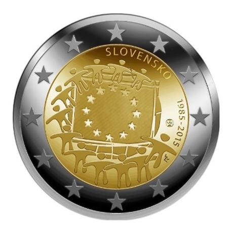2 euro commémorative Slovaquie 2015 - Drapeau européen