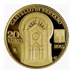20 euro Saint-Marin 2015 or BE - Eglise de Saint Paul, à Faetano Revers
