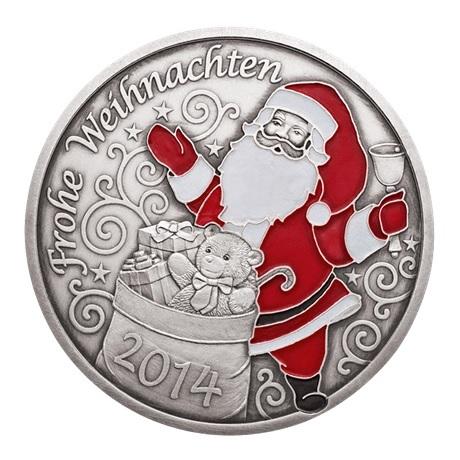 (MED01.Méd.MünzeÖ.2014.20379) Médaille argent patiné - Noël Avers