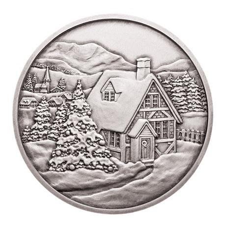 (MED01.Méd.MünzeÖ.2014.20379) Médaille argent patiné - Noël Revers