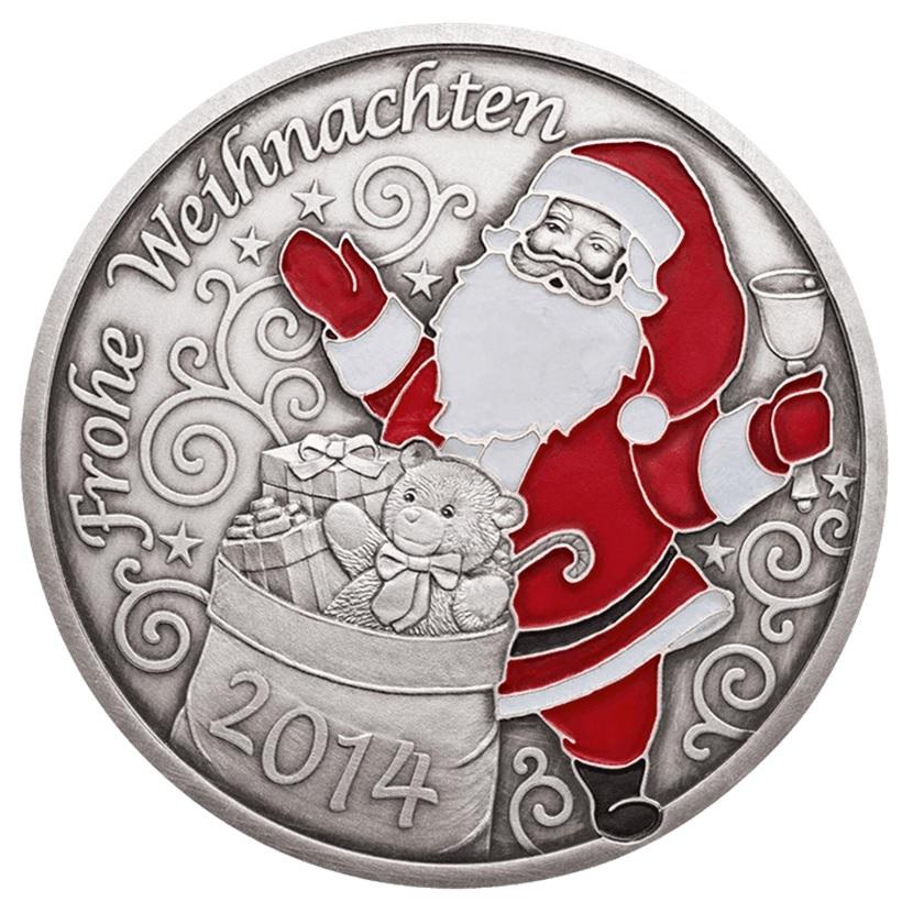(MED01.Méd.MünzeÖ.2014.20379) Patinated silver medal - Christmas Obverse (zoom)