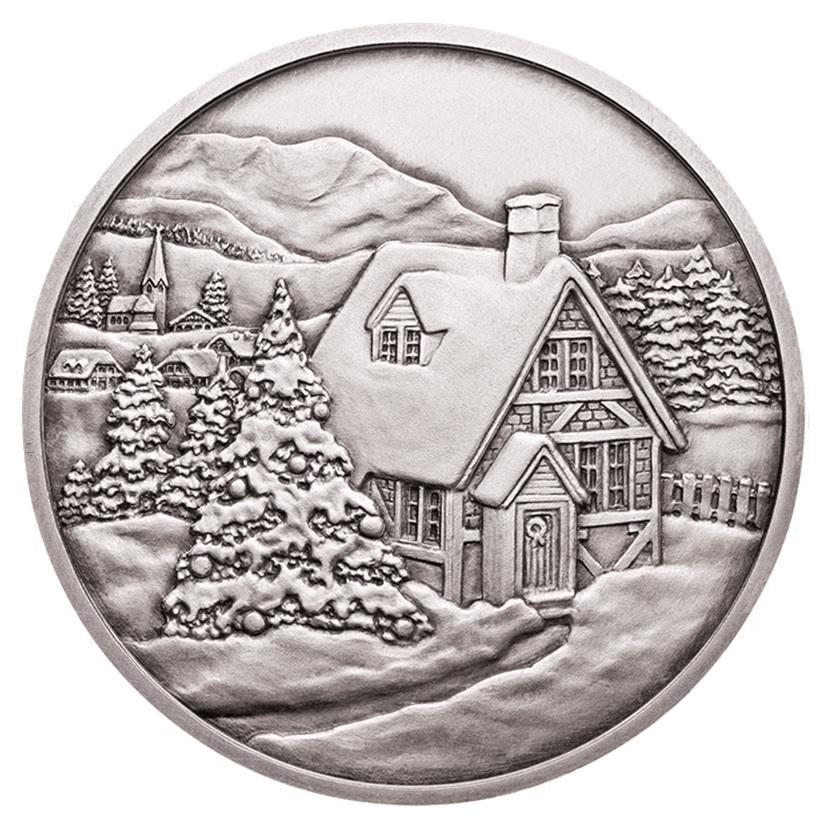 (MED01.Méd.MünzeÖ.2014.20379) Patinated silver medal - Christmas Reverse (zoom)