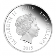 2 dollars Niue 2015 1 once argent BE - Jasmine Avers