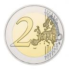 2 euro commémorative Autriche 2015 - Drapeau européen Revers