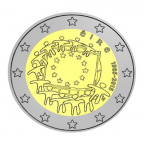 2 euro commémorative Irlande 2015 - Drapeau européen
