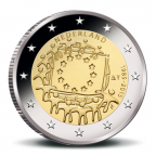 2 euro commémorative Pays-Bas 2015 - Drapeau européen Avers