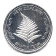 (BULLMED163.NZMint.1.ag.bullmed.1.000000002) Médaille argent 1 once - Fougère Avers