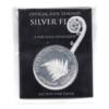 (BULLMED163.NZMint.1.ag.bullmed.1.000000002) Médaille argent 1 once - Fougère (packaging) (recto)