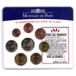 (EUR07.CofBU&FDC.2010.M-S5.324) Mini-set BU France 2010 - De Gaulle (coffret bleu) Recto (zoom)