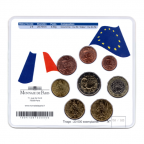(EUR07.CofBU&FDC.2010.M-S7.158) Mini-set BU France 2010 - De Gaulle (coffret rouge) Verso