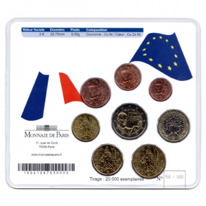 (EUR07.CofBU&FDC.2010.M-S7.158) Mini-set BU France 2010 - De Gaulle (coffret rouge) Verso (zoom)
