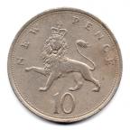 (W185.010.1973.1.1.000000002) 10 Pence Lion couronné 1973 Revers