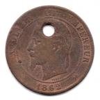 (FMO.010.1862_K.3.6.000000001) Dix centimes Napoléon III, Tête laurée 1862 K Avers