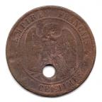 (FMO.010.1862_K.3.6.000000001) Dix centimes Napoléon III, Tête laurée 1862 K Revers