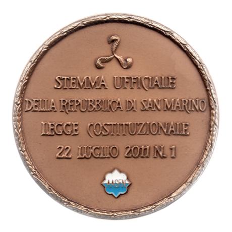 (MED18.Méd.AASFN.CuSn2.000000002) Médaille bronze - Hommage aux armoiries de Saint-Marin Revers