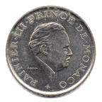 (W150.200.1981.1.2.000000002) 2 Francs Rainier III 1981 Avers