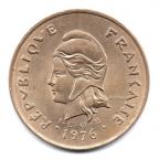 (W161.1.10000.1976.1.000000001) 100 Francs Hutte 1976 Avers