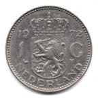 (W172.100.1972.1.-1.000000001) 1 Gulden Juliana 1972 Revers