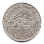 (W216.10000.1975.1000000001) 100 Francs Antilopes 1975 Avers