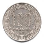 (W216.10000.1975.1000000001) 100 Francs Antilopes 1975 Revers