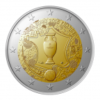 2 euro commémorative France 2016 - Championnat d'Europe de football Avers