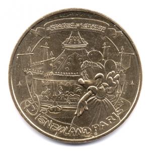 (FMED.Méd.souv.2016.CuAlNi2.000000002) Jeton touristique - Minnie et le Carrousel de Lancelot Avers