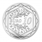 10 euro France 2016 argent - Championnat d'Europe de football Revers