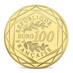 100 euro France 2016 or BU - Championnat d'Europe de football Revers