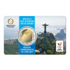 2 euro commémorative Belgique 2016 BU - Jeux olympiques d'été Recto