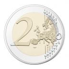 2 euro commémorative France 2016 BE - Championnat d'Europe de football Revers