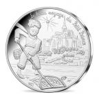 10 euro France 2016 argent - Le Petit Prince pêche au Mont Saint-Michel Avers