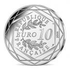 10 euro France 2016 argent - Le Petit Prince pêche au Mont Saint-Michel Revers