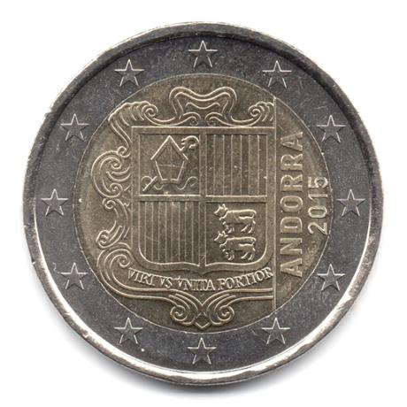 2 euro Andorre 2015 Avers