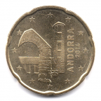 20 cent Andorre 2014 Avers