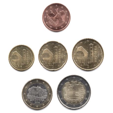 5 cent à 2 euro Andorre 2014 Avers