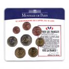 (EUR07.CofBU&FDC.2010.M-S5.359) Mini-set BU France 2010 - De Gaulle (coffret bleu) Recto