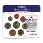 (EUR07.CofBU&FDC.2010.M-S5.359) Mini-set BU France 2010 - De Gaulle (coffret bleu) Recto