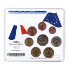 (EUR07.CofBU&FDC.2010.M-S5.359) Mini-set BU France 2010 - De Gaulle (coffret bleu) Verso