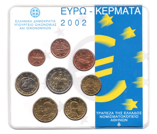 (EUR08.CofBU&FDC.2002.M-S1.000000002) BU coin set Greece 2002 Front (zoom)