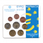 (EUR08.CofBU&FDC.2002.M-S1.000000002) Mini-set BU Grèce 2002 Recto