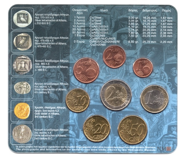 (EUR08.CofBU&FDC.2005.M-S1.000000002) BU coin set Greece 2005 Back (zoom)