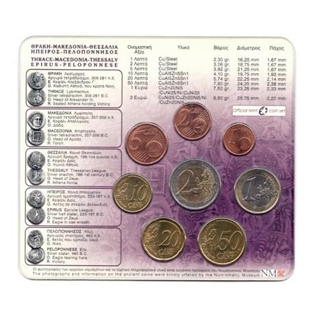 (EUR08.CofBU&FDC.2008.M-S1.000000002) Mini-set BU Grèce 2008 Verso