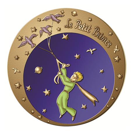 (FMED.Méd.MdP.2016.CuZn1) Médaille bronze florentin - Le Petit Prince et ses citations Avers
