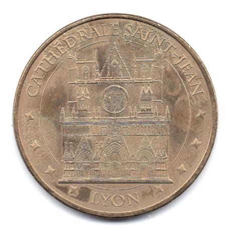 (FMED.Méd.souv.2013.CuAlNi2.000000003) Jeton touristique - Cathédrale Saint-Jean de Lyon Avers