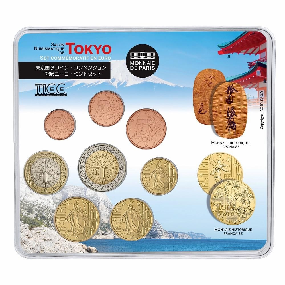 (EUR07.CofBU&FDC.2016.10041300980000) BU coin set France 2016 - Tokyo International Coin Convention Front (zoom)