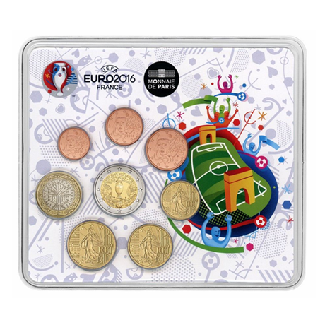 Mini-set BU France 2016 - Championnat d'Europe de football Recto