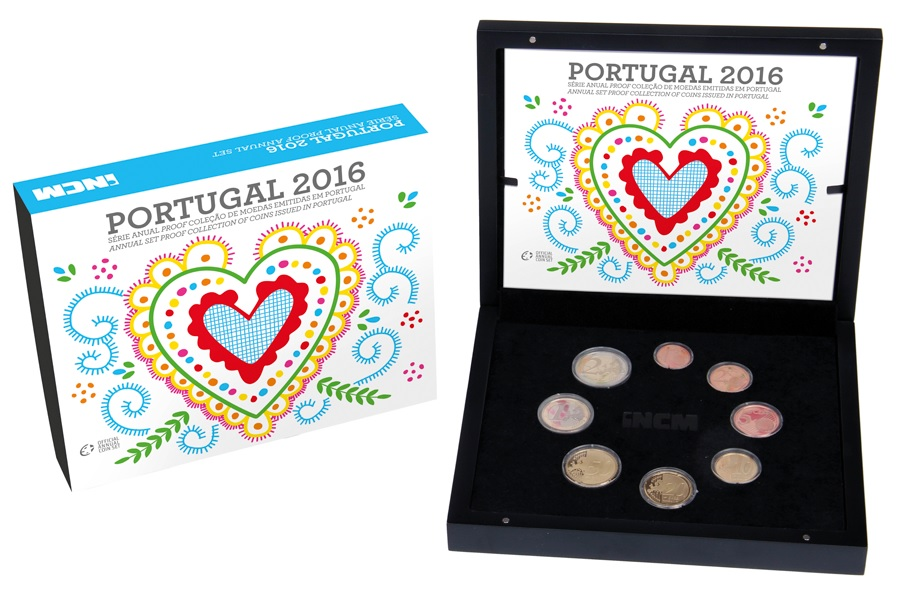 Proof coin set Portugal 2016 (zoom)
