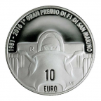 10 euro Saint-Marin 2016 argent BE - Grand Prix de Saint-Marin Revers